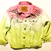acid wash neon yellow and bright pink / Levi&#x27;s by todyefordenim