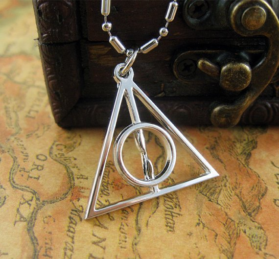 Harry Potter Silver metal Deathly Hallows Symbol by hgforeverstar