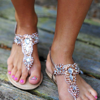 Jewel Be My Best Friend Sandals: Rose Gold | Hope&#x27;s