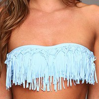 L*Space Knotty Fringe Dolly Top Powder Blue - Zappos.com Free Shipping BOTH Ways