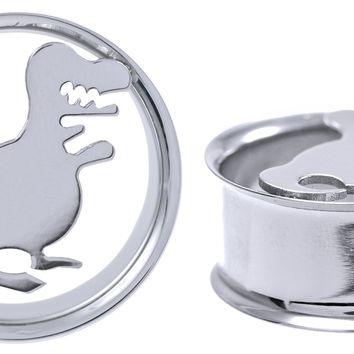 Dinosaur T-Rex Stainless Steel Ear Gauges