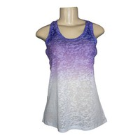 BurnoutKingUSA - Purple Burnout Tank Top (H-Back/Runner Back)-Sheer Women T-Shirt Ladies