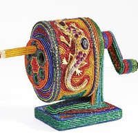 Pencil Sharpener by Kathy Wegman: Beaded Sculpture - Artful Home