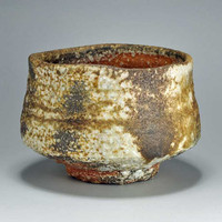 Shigaraki, anagama, ten-day anagama wood firing, with natural ash deposits tea bowl. chawn-25