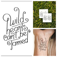 Wild Hearts - temporary tattoo (Set of 2)