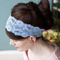 Heirloom Stretch Lace headband hair band by GarlandsOfGrace