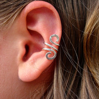 Ear Cuff Jewelry Single Silver Filled Ear Cuff, Hand Hammered and just gorgeous ear cuffs are SO trendy and sexy
