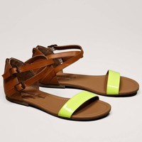 AEO Neon Strap Sandal | American Eagle Outfitters