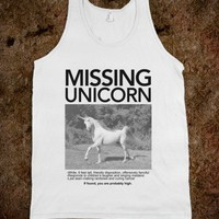 Missing Unicorn (Tank)