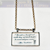 Limb and Fingers Jewelry Shop Dumbledore Quote by DiagonAlley