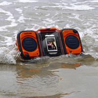 Eco Terra Waterproof Boombox at BrookstoneBuy Now!