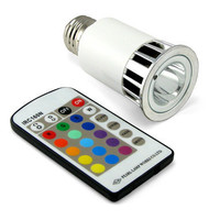 Multi-Color LED Light Bulb with Remote