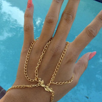 Gold Chain Ring Harness SALE