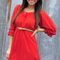 Ready For A Rodeo Dress: Red | Hope&#x27;s