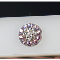 reserved listing for Aggie Becker: Two piece Swarovski home button sticker