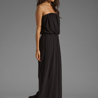 Velvet Shivan Sheer Jersey Maxi Dress in Black from REVOLVEclothing.com