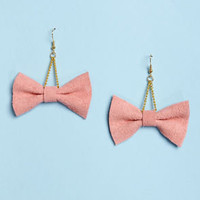 Claire Fong Zooey Pink Bow Earrings