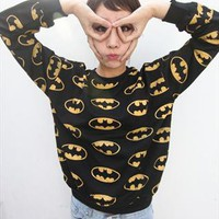 punk rock batman print  sweatershir jumper from mancphoebe