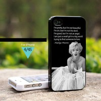 Marilyn Monroe Pretty Quote - For iPhone 4 / 4s Case