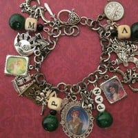 Peter Pan Inspired Altered Art Charm Bracelet