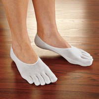 Fresh Gear Toe Socks, No-Show Antimicrobial Toe Socks | Solutions