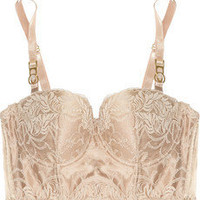 Stella McCartney | Maria Bouncing lace and mesh bustier bra | NET-A-PORTER.COM