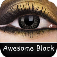 Coloured Contact Lenses | Awesome Black Big Eyes Contact Lenses