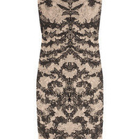 Alexander McQueen | Lace-effect fine-knit dress | NET-A-PORTER.COM