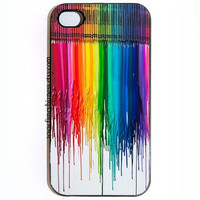 iPhone 4 4s Melted Crayons Hard Snap On iPhone 4 4s Case