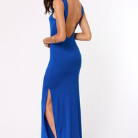 Maximum's the Word Blue Maxi Dress
