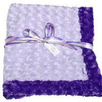 "Amazon.com: Cozy Purple and Lavender Baby Blanket 35""x 29"": Baby"