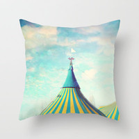 circus tent Throw Pillow by Sylvia Cook Photography
