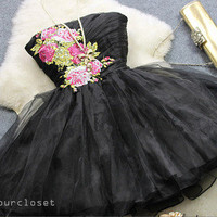 Gorgeous strapless embroidered  ball gown from Your Closet