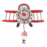 Airplane Jumper Pendulum Wall Clock