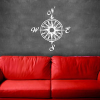 Compass Nautical Vinyl Wall Decal 22165 by CuttinUpCustomDieCut