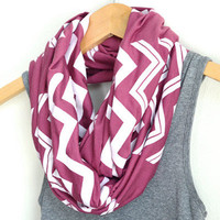White Chevron on Mauve