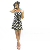 Yorkshire Chevron Statement Dress