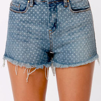 Blank NYC The Solid Gold Cutoff Jean Shorts