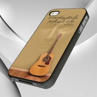 Ed Sheeran Quote And Acoustic Guitar design for iPhone 4 or 4s Case