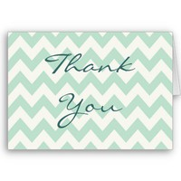 Light Green Chevron Card from Zazzle.com