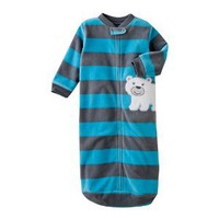 "Amazon.com: Carter's Baby Boys Long Sleeve Comfy Fleece ""Polar Bear Stripe"" Snuggle-me Sleep Bag or Sleep Sack (Size 0-9 Months): Baby"