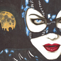 Cat Woman portrait prints also available by ShayneoftheDead