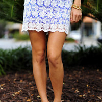 Your Inner Colors Skirt: Royal Blue/White | Hope&#x27;s