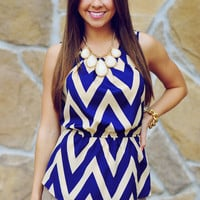 Zig Zags For Life Top: Navy/Ivory | Hope's