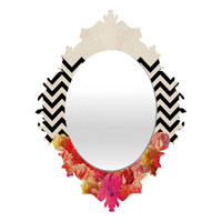 DENY Designs Home Accessories | Bianca Green Chevron Flora 2 Baroque Mirror
