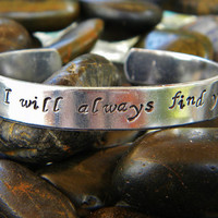 Once Upon A Time inspired bracelet - I will always find you
