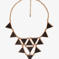 Faux Leather Triangle Charm Necklace