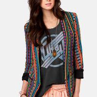 Gypsy Junkies Becca Tribal Print Blazer