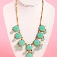 Bauble-y&#x27;s World Mint Statement Necklace