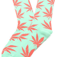 HUF The Plantlife Socks in Aqua : Karmaloop.com - Global Concrete Culture